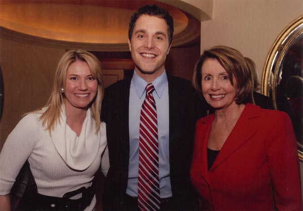 Tom Manatos with wife Dana and Speaker Nancy Pelosi
