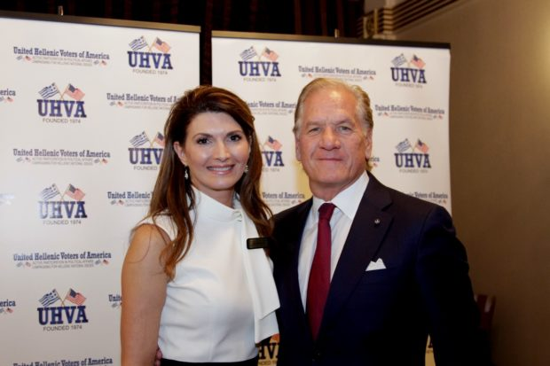 UHVA National Supreme Chairman Kiki Whitehead with PanHellenic Chairman Robert A. Buhler