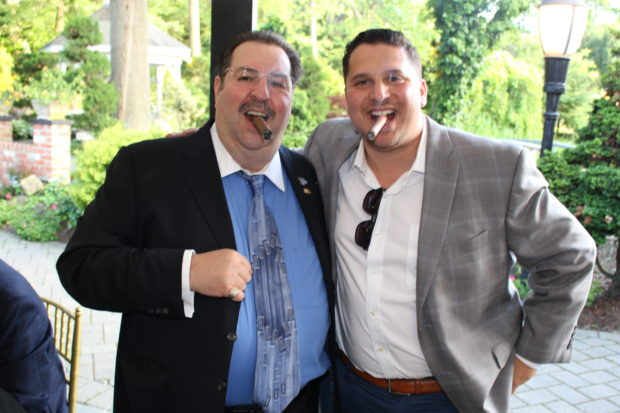 John G. Levas & Chris Pappas, former and current Chapter 456 President
