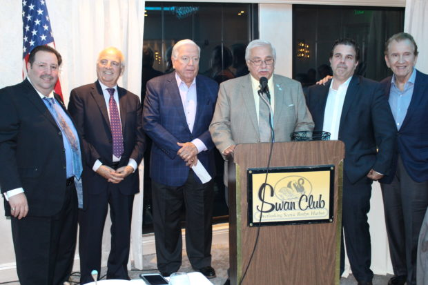 From left, Michael Georgis, Len Zangas, George Karatzas, Perry Cyprus, Peter Mesologitis
