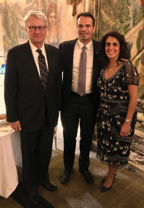 Hon. Nicholas G. Garaufis of the US District Court - Eastern District of NY, Gala Benefactor George Stamboulidis, HLA President Chrisanthy Zapantis-Melis