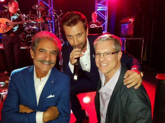 Jimmy Pantelidis and Drake with Greek singer Thanos Petrelis