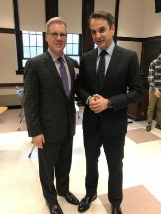 With Greece's Prime Minister Kyriakos Mitsotakis