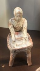 Figurine of a female kneading dough, early 5th c B.C. Museum of Thebes, Greece