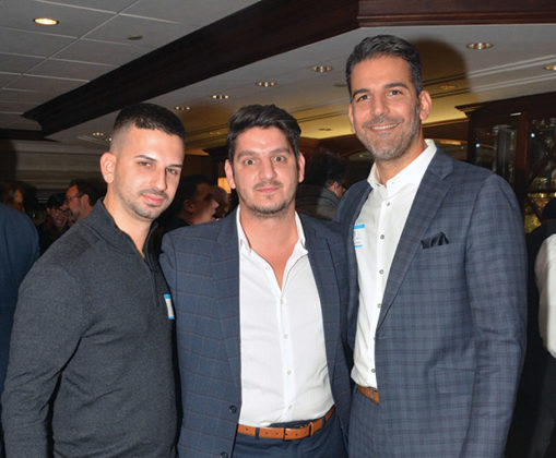 Frank Bouklis, Christos Papademos, Yianni Stroumbakis; PHOTO: ETA PRESS