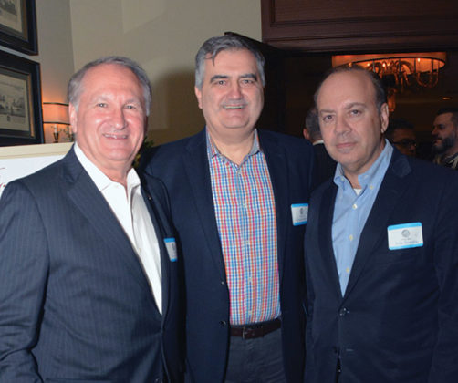 George Maragos, Demetri Ziozis, John Stratakis; PHOTO: ETA PRESS