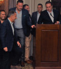 The organizing committee for Heritage Greece Fundraiser: Paul Tsoumpariotis, Nick Pashalis, Demetri Belesis, Steve Spuccess, Nick Katopodis, John Frankis; PHOTO: ETA PRESS