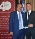 Dr. Spiros Spireas receiving the award from Spiros Maliagros, PHOTO: ETA PRESS