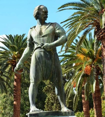 The statue of Admiral and hero of Greek Independence Constantinos Kanaris in Chios