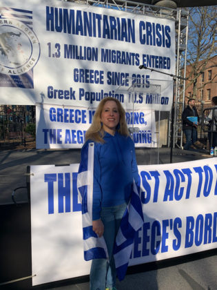 Stella proudly attended Migrant Crisis Rally organized by Norther Aegean Alliance on the eve of coronavirus