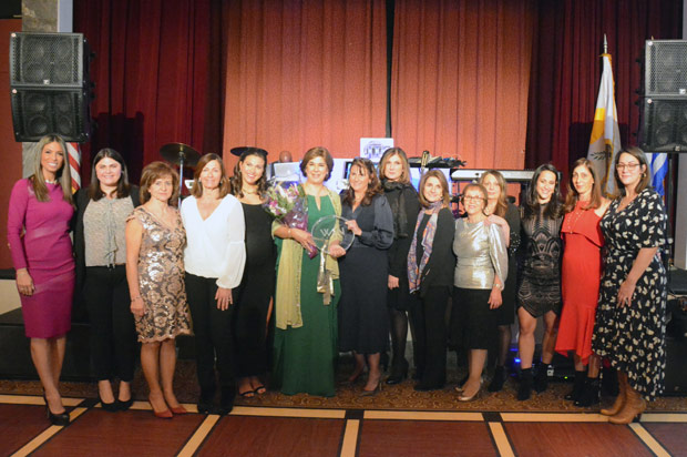 All members of WIN in an commemorative photo with author and activist Tasoula Hatzitofi. PHOTO: ETA PRESS