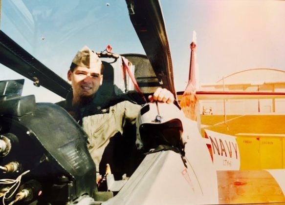 Flight training at Naval Air Station, Pensacola, Spring 1990.