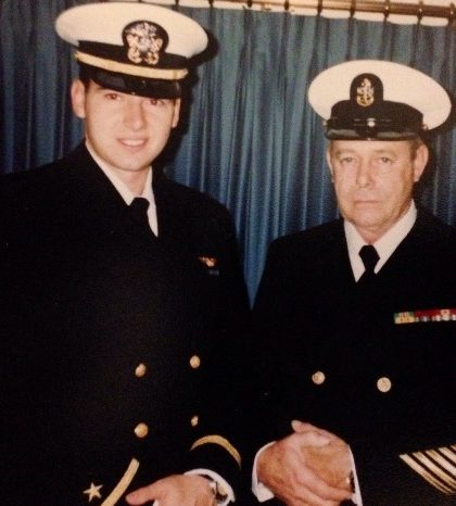 With father, Chief Engineman Melvin Grimes, USN.