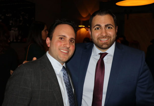 Konstantinos Belesis (left) with candidate for US Congress Mike Tannousis. PHOTO: ETA PRESS