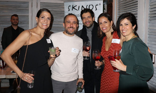 Artemis Kohas, one of the organizers (second from right) with friends. PHOTO: ETA PRESS