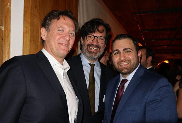 Michael Tannousis with Toni Birbilis and a friend. PHOTO: ETA PRESS