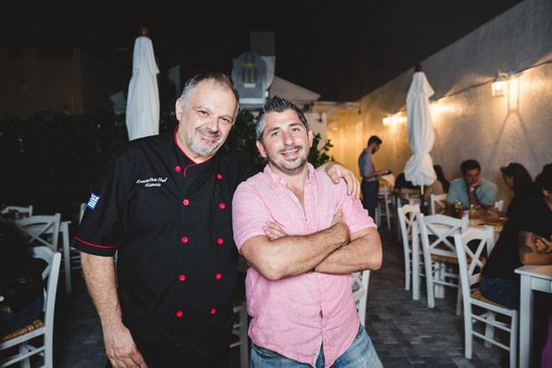 Chef Giannis Kotsos and Alex Karavias