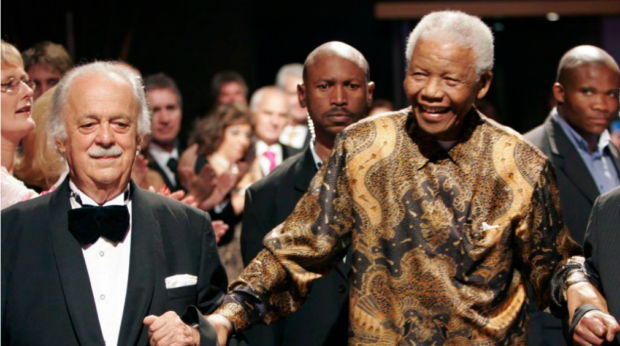 Two giants: the late George Bizos with his friend, the late Nelson Mandela