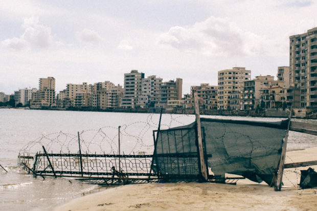 The ghost city of Varosha/Famagusta in the Turkish occupied area of Cyprus