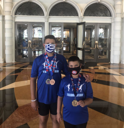 Georgios and Argyrios Stergiopoulos in Las Vegas with their Medals from Western Junior Olympics