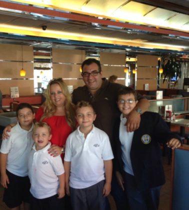 Chris and Irene Siderakis with their children Themis, Billy, Marios and Demetris