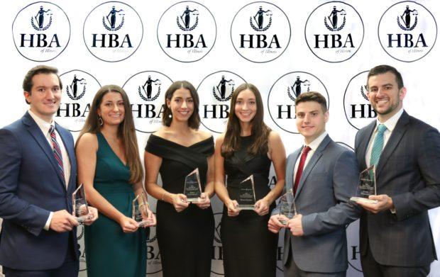 The Hellenic Bar Association Foundation awarded six $10,000 scholarships to deserving law students. The 2020 scholarship recipients are, L-to-R: Christos Kapsalis, Nicole Mouzakiotis, Eleni Eliopoulos, Maria Palivos, Haridimos Kouklakis, and James Heracklis