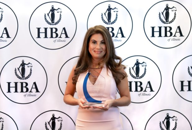 The Hellenic Bar Association Lawyer of the Year is Georgia Loukas Demeros, a partner at the law firm of Thompson Coburn LLP in Chicago
