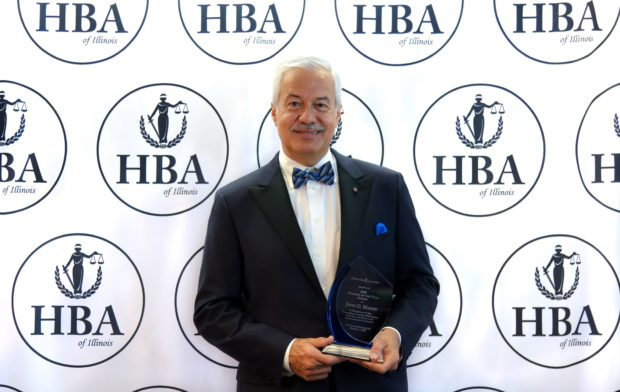 Dr. Dimitrios Kyriazopoulos, founder of the United Hellenic Voters of America with current National Supreme Chairman Kiki StamAtiou Whitehead, received the the 2020 Lifetime Achievement Award