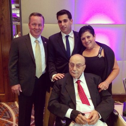 George with Baltimore Police Commissioner Kevin Davis, Roula Paterakis and the late John Paterakis, Sr.