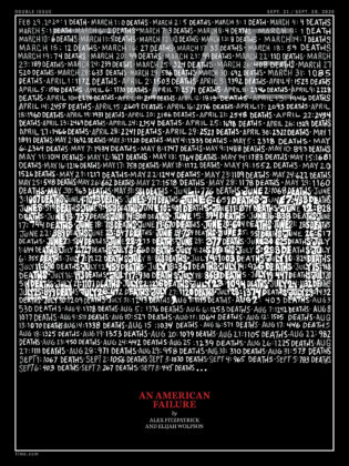 Mavroudis' Time cover for the 200,000 of Covid in the US
