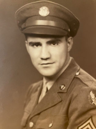 Charles C. Condes served in the U.S. Army Air Corps during World War II as a meteorologist