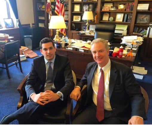 George with U.S. Senator Chris Van Hollen