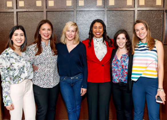 Stefanie Roumeliotes, Chelsea Handler, Mayor London Breed of San Francisco with former employees of SGR Consulting at a Women's Event in support of London Breed for Mayor in May of 2018 - San Francisco, CA