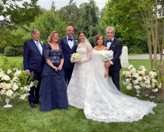 The newlyweds Calliope & George with parents. From left, Ioannis & Maria Zoitas and Stephanie & George Pantelidis