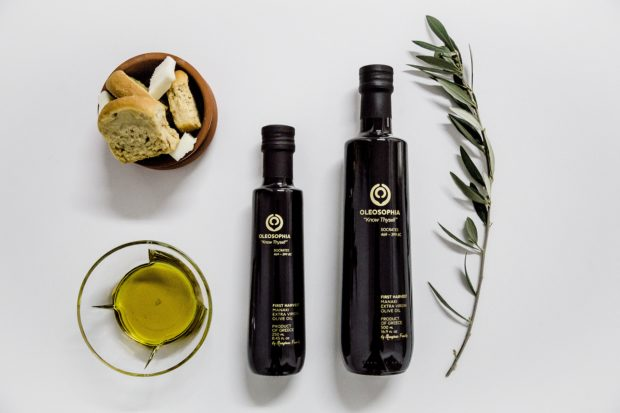OLEOSOPHIA First Harvest Manaki Monovarietal, a rare and award-winning artisan extra virgin olive oil. IMAGE BY ELENA TEKTON PHOTO BOUTIQUE, COURTESY OF OLEOSOPHIA