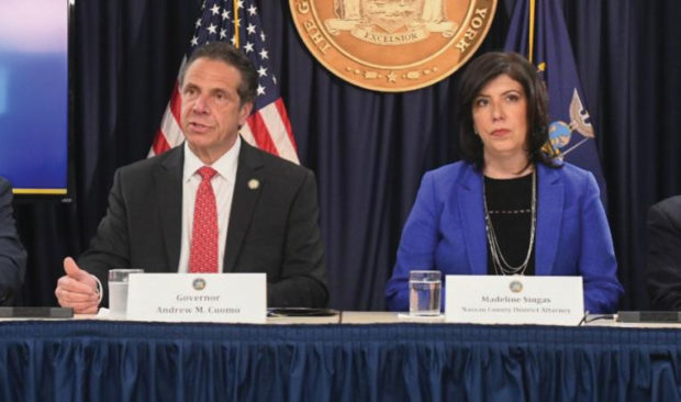 Gov. Andrew Cuomo and Nassau County District Attorney Madeline Singas | Don Pollard/Office of Gov. Andrew Cuomo
